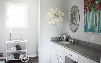 Our Re-Fabbed Master Bathroom! Beautiful Transformation.