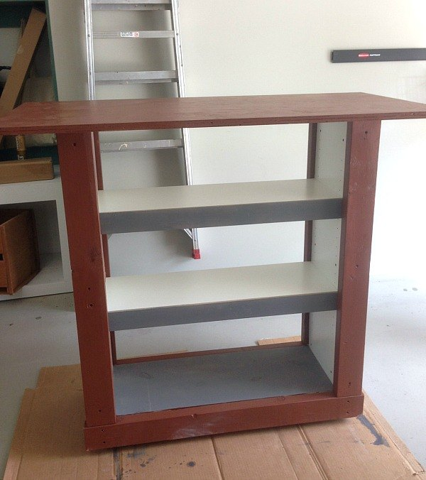 ikea billy bookcase hack to outdoor bar table hometalk