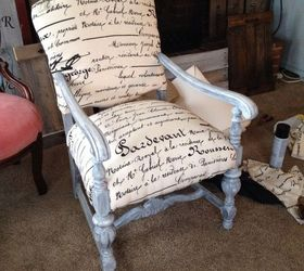 Ordinaire Repainted And Reupholstered Wood Chairs, Painted Furniture, Repurposing  Upcycling, Reupholster