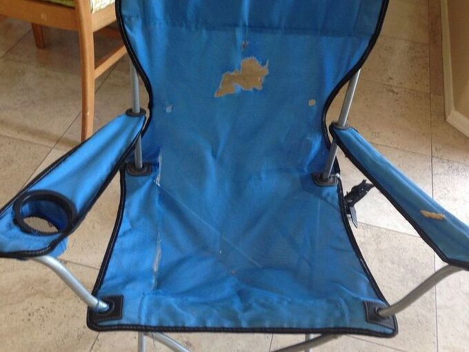 q how to reupholster a camp chair, home maintenance repairs, outdoor furniture