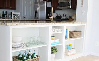 make the best use of the space under your counter with diy shelves, countertops, how to, kitchen cabinets, organizing, shelving ideas, storage ideas