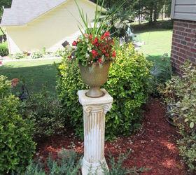 Using A Plaster Column As A Planter In Your Garden, Container Gardening,  Gardening
