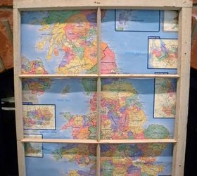 Decorating With Old Windows And Maps, Crafts, How To, Repurposing  Upcycling, Wall