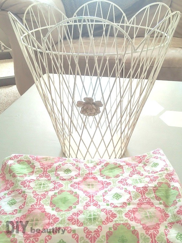 How to Transform A Wire Basket with Fabric! | Hometalk