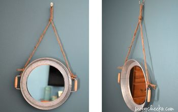 DIY Hanging Rope Mirrors - Two for $30!