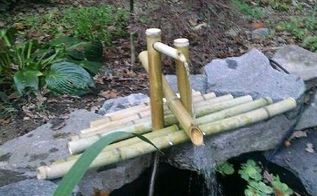 diy clacking bamboo water feature, gardening, ponds water features