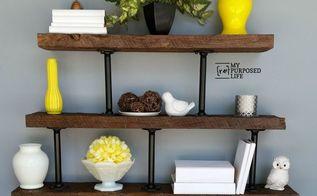 diy industrial shelf, diy, how to, repurposing upcycling, shelving ideas