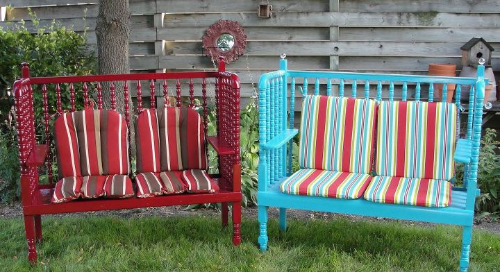 Magnificent Two Garden Benches Made Using A Jenny Lind Crib Hometalk Ocoug Best Dining Table And Chair Ideas Images Ocougorg
