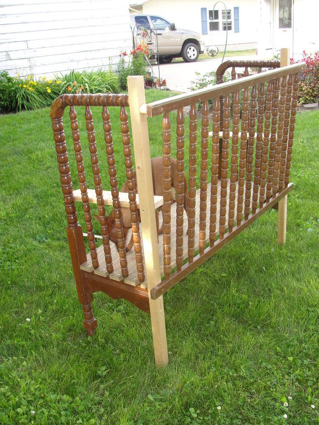 Cool Two Garden Benches Made Using A Jenny Lind Crib Hometalk Ocoug Best Dining Table And Chair Ideas Images Ocougorg