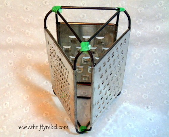 repurposed vintage cheese graters lantern, gardening, lighting, outdoor living, repurposing upcycling