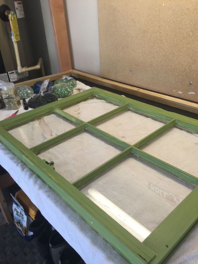how to make a marble mosaic on an old window frame how to repurposing - Diy Window Frame