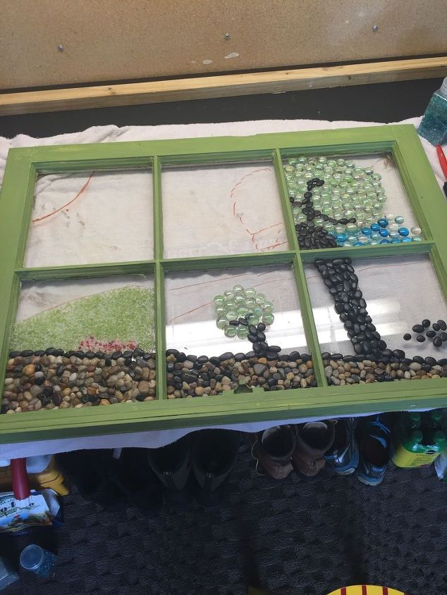 how to make a marble mosaic on an old window frame how to repurposing - Window Frame Ideas