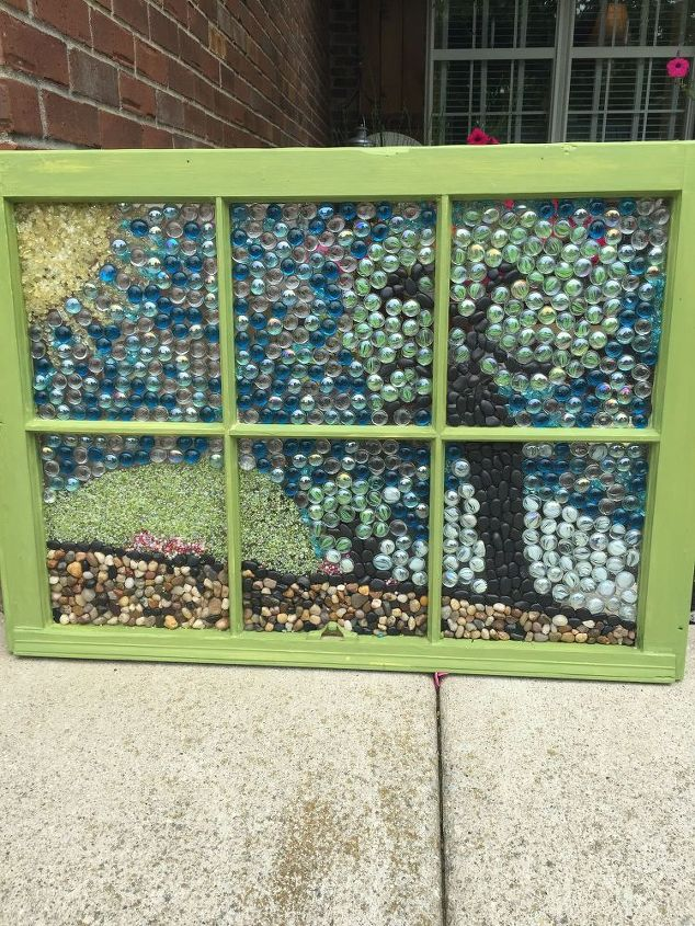 How To Make A Marble Mosaic On An Old Window Frame Hometalk