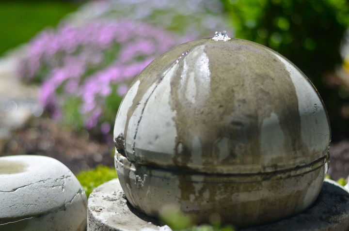 diy garden fountain, crafts, flowers, gardening, ponds water features
