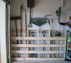 & Garage Storage for Garden Tools From Old Pallet | Hometalk