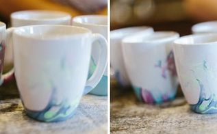 diy watercolor coffee cups, crafts, how to, repurposing upcycling