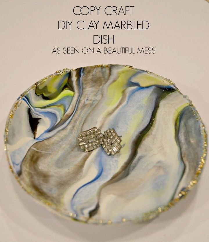 diy marbled clay dish, crafts, how to