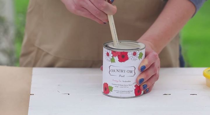 Step 1) Shake, stir, and pour your paint