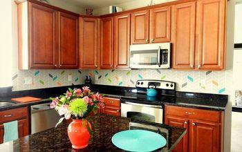 please vote for my diy painted backsplash, kitchen backsplash, kitchen design