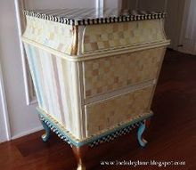 how to make a chest look like mackenzie child s furniture, painted furniture