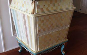 Making A Chest Look Like Mackenzie-Child's Furniture
