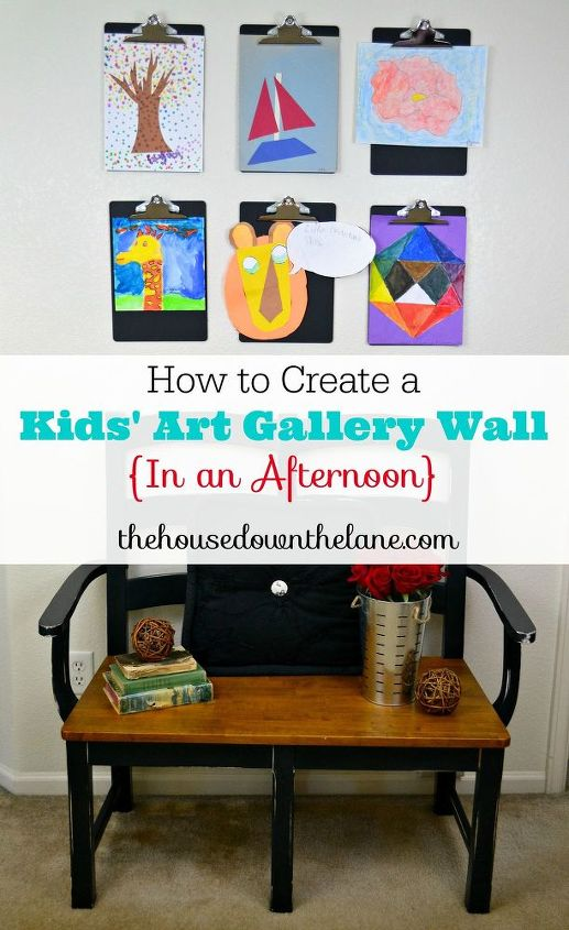how to create a kids art gallery wall in an afternoon, crafts, how to, wall decor