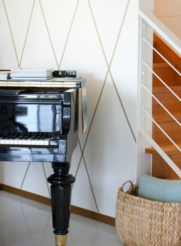 washi tape wall art cheap and renter friendly hometalk. Black Bedroom Furniture Sets. Home Design Ideas