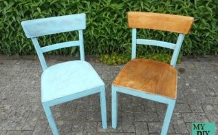 painted wood chairs, painted furniture, repurposing upcycling