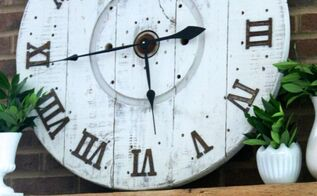 diy spool clock, crafts, diy, how to, repurposing upcycling, woodworking projects