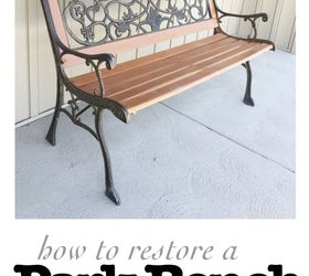 Park Bench Ideas Part - 28: How To Restore An Old Park Bench