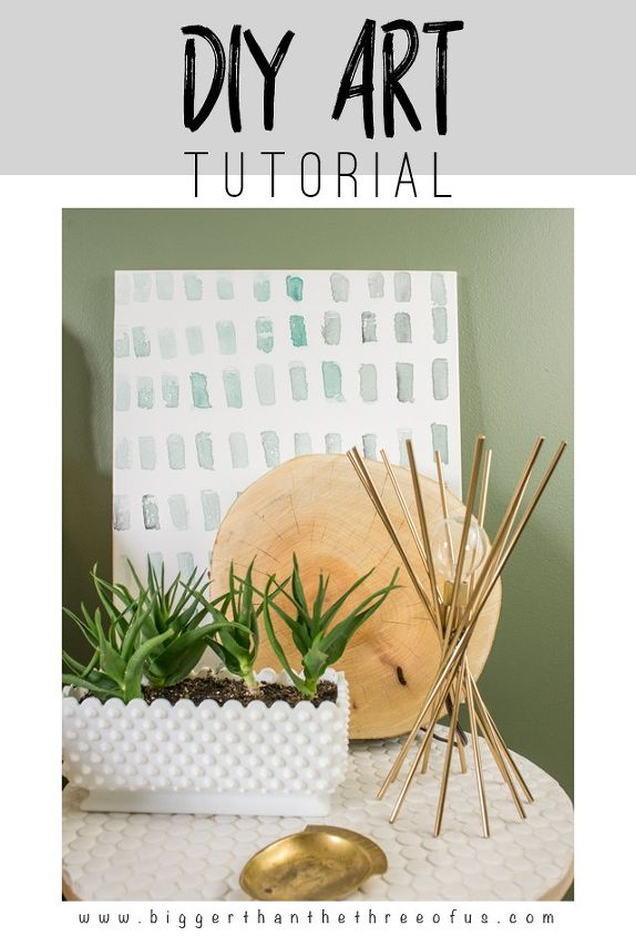 diy 5 minute brushstroke art, crafts, how to, wall decor