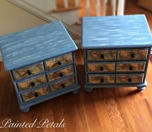 decoupaged nautical end tables painted with cece caldwell, decoupage, painted furniture