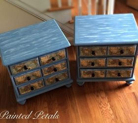 Lovely Decoupaged Nautical End Tables Painted With Cece Caldwell, Decoupage,  Painted Furniture