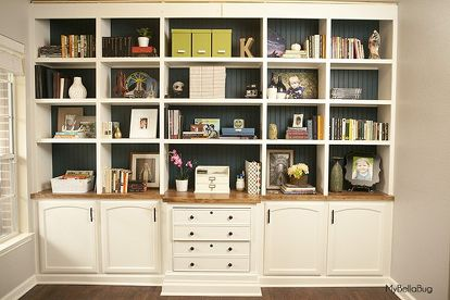 Diy Office Built Ins Home How To Shelving Ideas