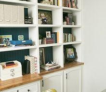 diy office built ins, diy, home office, how to, shelving ideas, woodworking projects