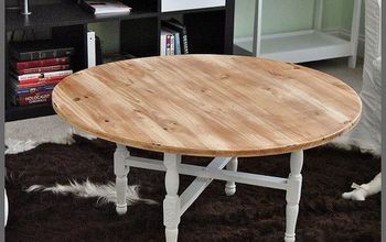 A Coffee Table Update Rustic Style