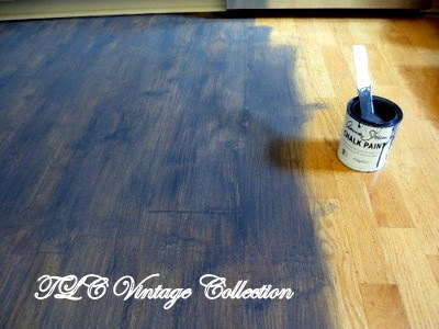 how to chalk paint wood laminate floor chalk paint flooring how to - Paint For Wooden Floor