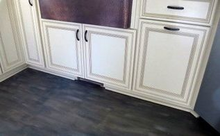 how to chalk paint wood laminate floor, chalk paint, flooring, how to, painting, Dry brushing gives a worn aged look