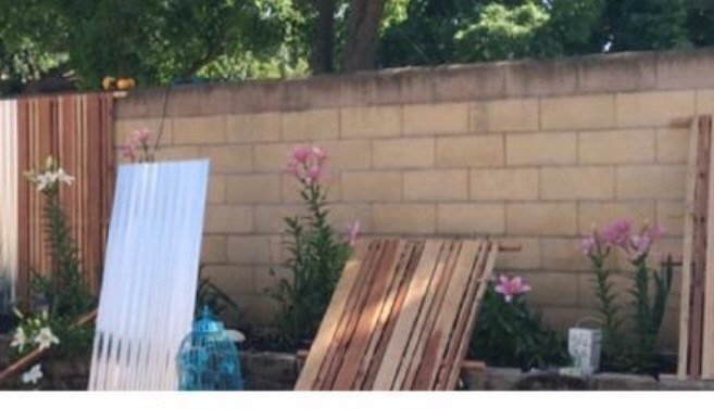How To Cover A Cinder Block Fence Hometalk