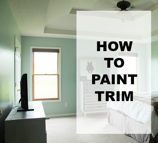 How To Paint Trim White