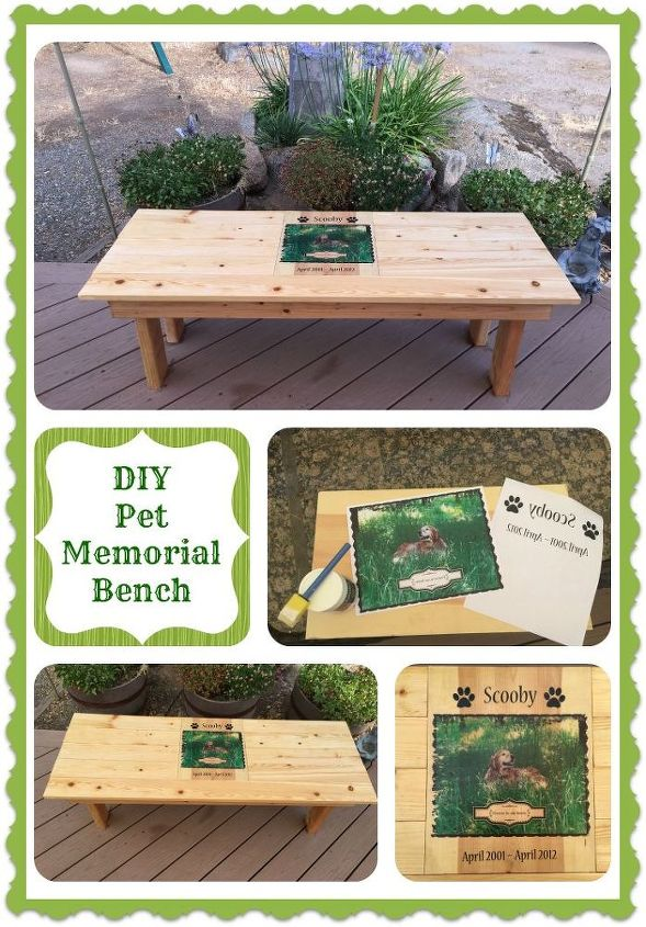 Diy Pet Memorial Photo Bench Hometalk