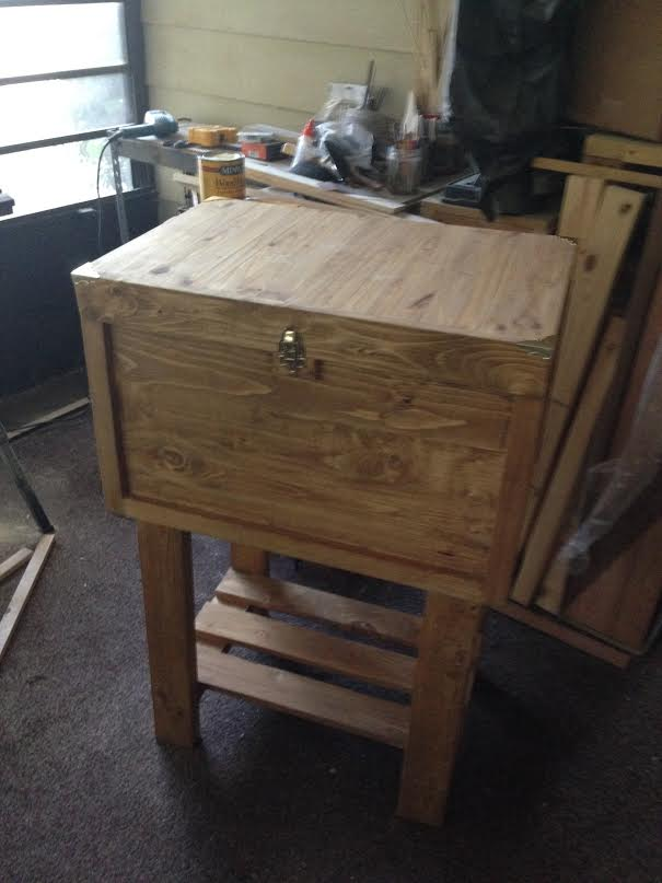 pallet cooler, diy, how to, outdoor living, pallet, repurposing upcycling, woodworking projects