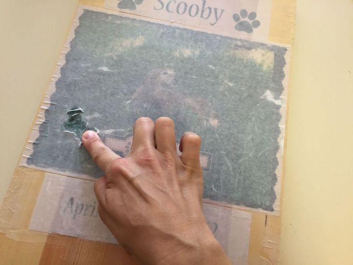 Use your finger to gently rub away the paper