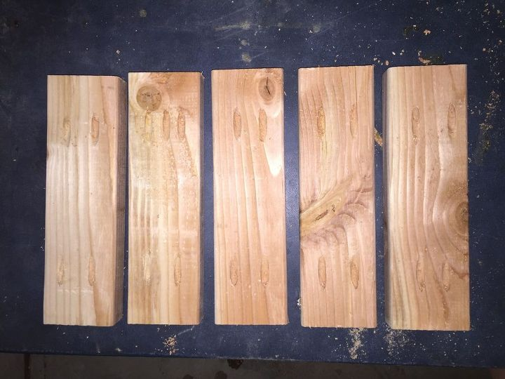 Pocket holes drilled into each end of boards.