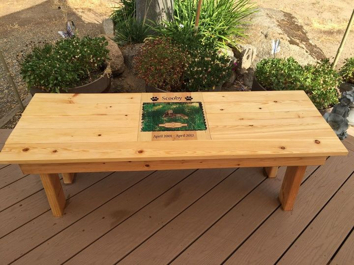 Well-known DIY Pet Memorial Photo Bench | Hometalk TH62
