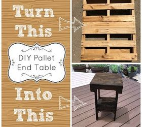 Diy Pallet End Table, Diy, How To, Pallet, Repurposing Upcycling,  Woodworking