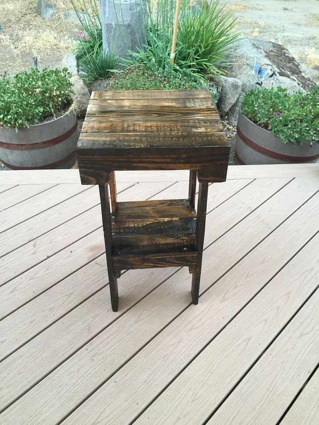 diy pallet end table  diy  how to  pallet  repurposing upcycling   woodworking  End table made from pallet wood. DIY Pallet End Table   Hometalk