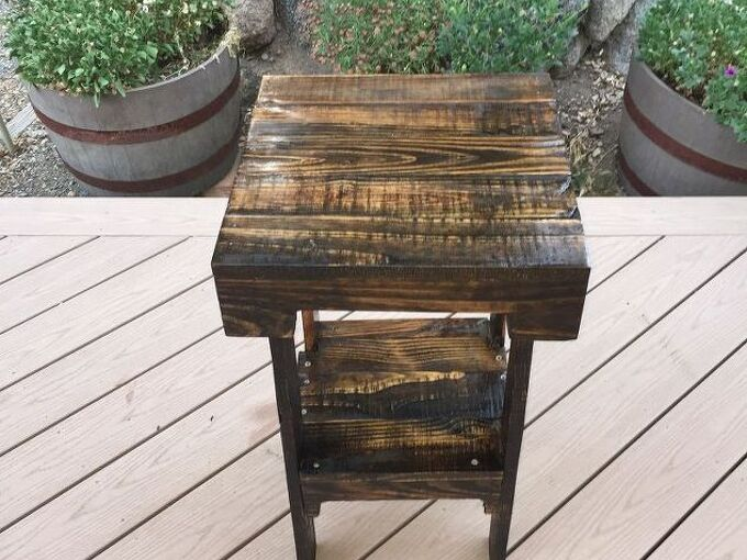 diy pallet end table, diy, how to, pallet, repurposing upcycling, woodworking projects, Finished table