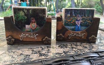 DIY Photo Coasters and Wood Storage and Display Box