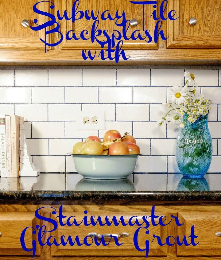 subway tile with glamour grout backsplash, how to, kitchen backsplash, kitchen design, tiling